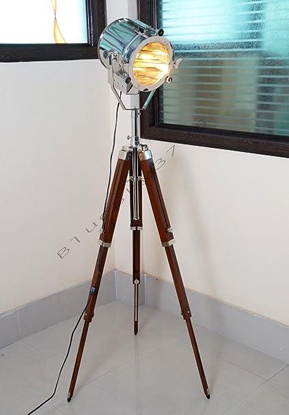 Handmade designer nautical marine signal search light nautical handmade designer nautical marine signal search light nautical tripod floor lamp mozeypictures Choice Image