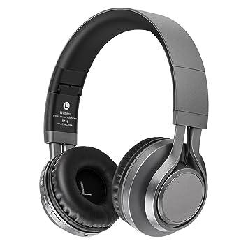 LEQUIDE - Auriculares Bluetooth inalámbricos, plegables, bluetooth, memoria, proteínas con micrófono,