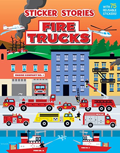 (Fire Trucks (Sticker Stories))