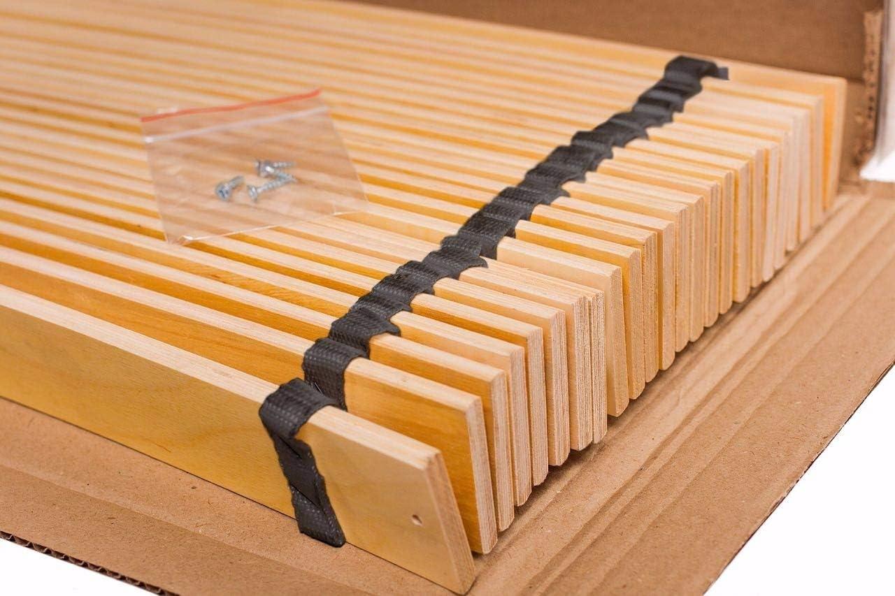 160 x 200 cm 2 x 80 cm Naturamio Rolling Frame with 24 Slats Birch Wood 160 x 200 cm Wood