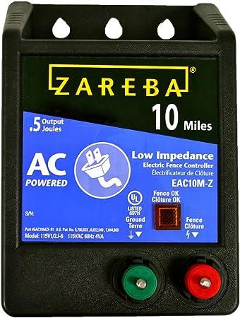 Zareba Electric Fence Controller 115-Volt 10-Mile Low Impedance Energizer
