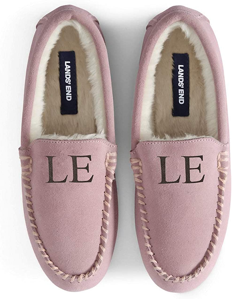 Lands' End Women's Suede Leather Moccasin Slippers