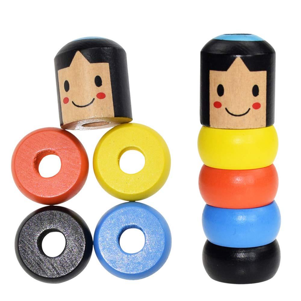 lustiges Spielzeug Halloween Japanisches Traditionelles Spielzeug AAERP 1PCS Holz Spielzeug Lustiges Unzerbrechliches H/ölzernes Mann Magie