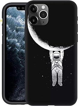 Yoedge Funda iPhone 11 Pro, Ultra Slim Cárcasa Silicona Negro con ...