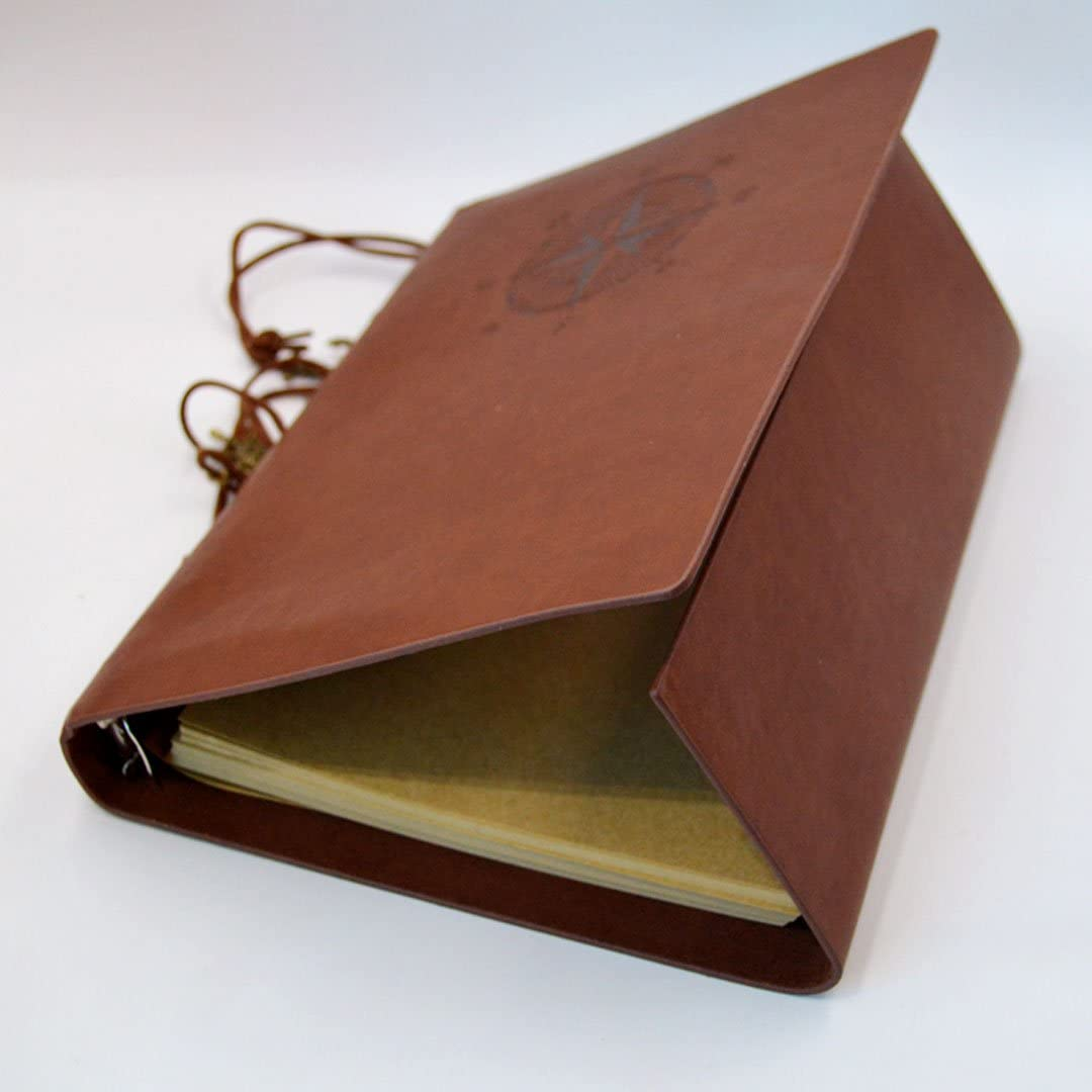 AISI A5/Notizbuch Vintage nachf/üllbar Premium PU-Leder Klassische Gepr/ägte Travel Journal Tagebuch mit blanko Seiten und Retro Anh/änger braun