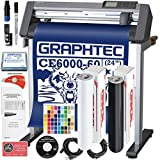 Graphtec PLUS CE6000-60 24 Inch Professional Vinyl Cutter with BONUS Oracal 651, $2100 in Software, and 2 Year Warranty
