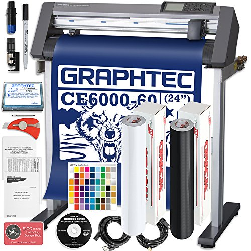 Graphtec PLUS CE6000-60 24 Inch Professional Vinyl Cutter with BONUS Oracal 651, $2100 in Software, and 2 Year Warranty - Commercial Label Printers