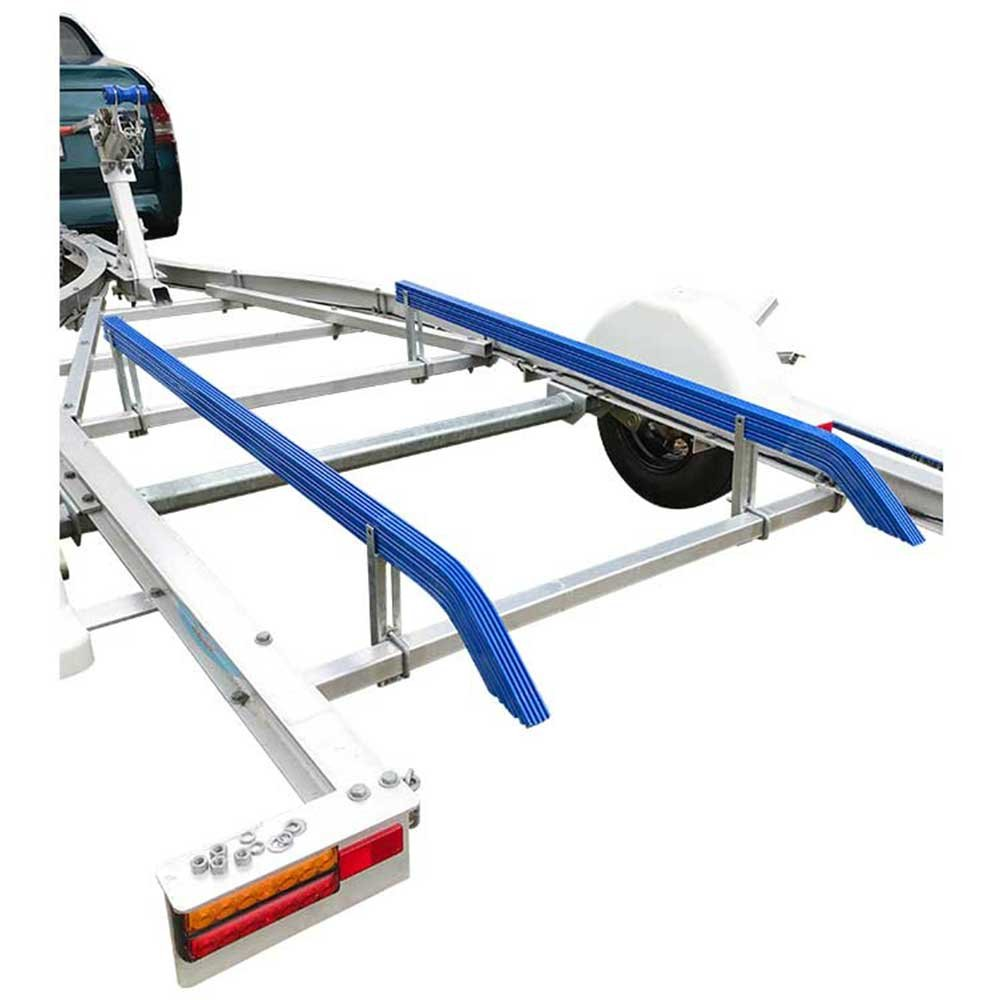 Roxom 5 Foot Boat Trailer Bunks with 45 Degree Bends. Ribbed Plastic Design. Ideal for Aluminium Boat Hulls, Jon Boats, Bass Boats. No Need for Constant Replacement Like Carpet Bunk Guides. Pack of 2.