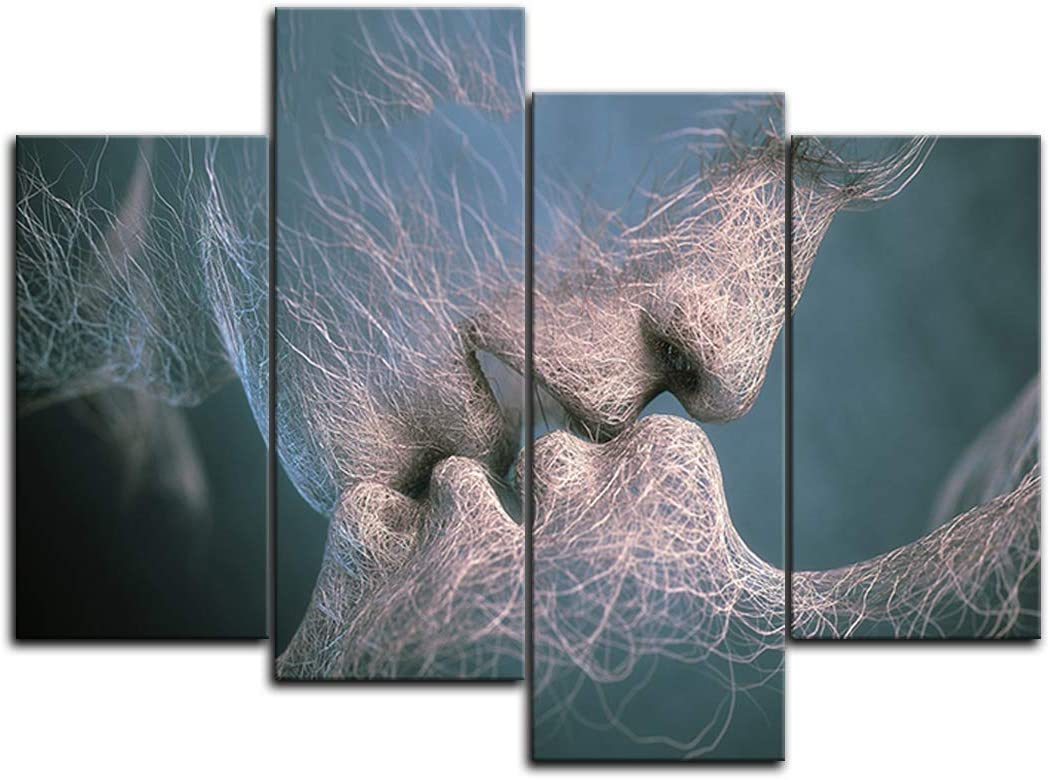 3Pcs Love Kiss Abstract Canvas Print Art Painting Picture Home Room Wall  H2