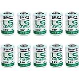 Jus thionylchlorid Batterie au lithium LS142501/2AA 3,6V, Lot de 10 Blanc/Vert