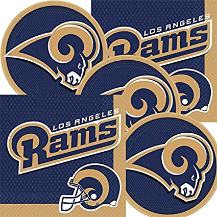Amazon Com Los Angeles Rams Nfl Football Team Logo Plates And