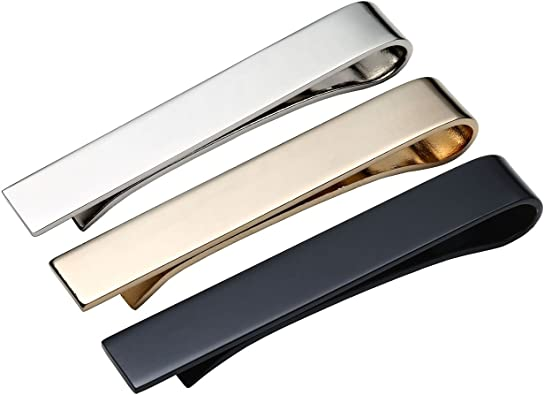 Personalized Silver Two Tone Tie Clip Engraved Free