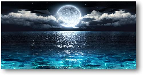 Wall Art Moon Sea Ocean Landscape Picture Canvas Wall Art Print Paintings Modern Artwork