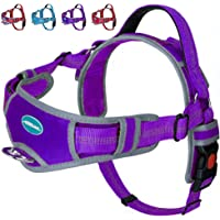 ThinkPet No Pull Harness Breathable Sport Harness - Escape Proof/Quick Fit Reflective Padded Dog Safety Vest with Handle…
