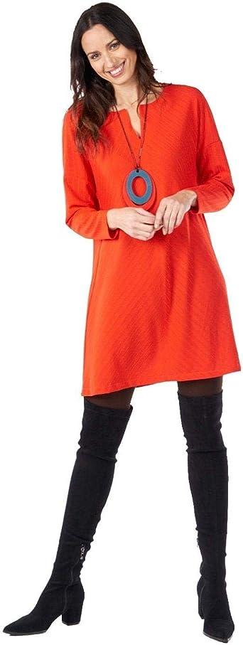MERCEDES DE MIGUEL Kleid schlicht rot für Damska: Odzież