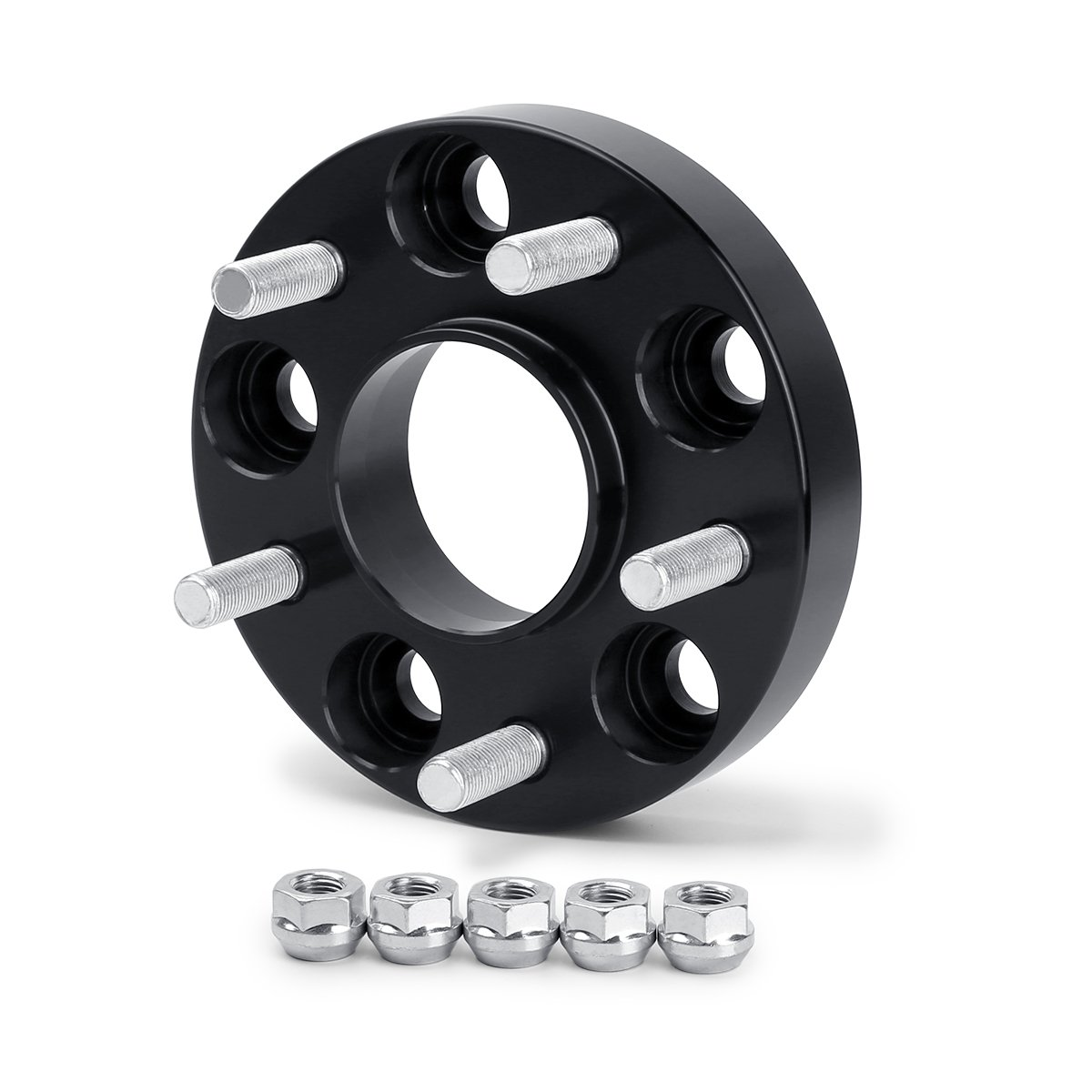 Dynofit 5x4.5 Wheel Spacers for 300ZX 350Z 370Z Altima Leopard G35 G37 FX35 S14 and More 4Pcs 25mm 5x114.3 Hubcentric Forged Wheels Spacer 66.1mm Hub Bore M12x1.25 for Nissan Infiniti 5 Lug Rims