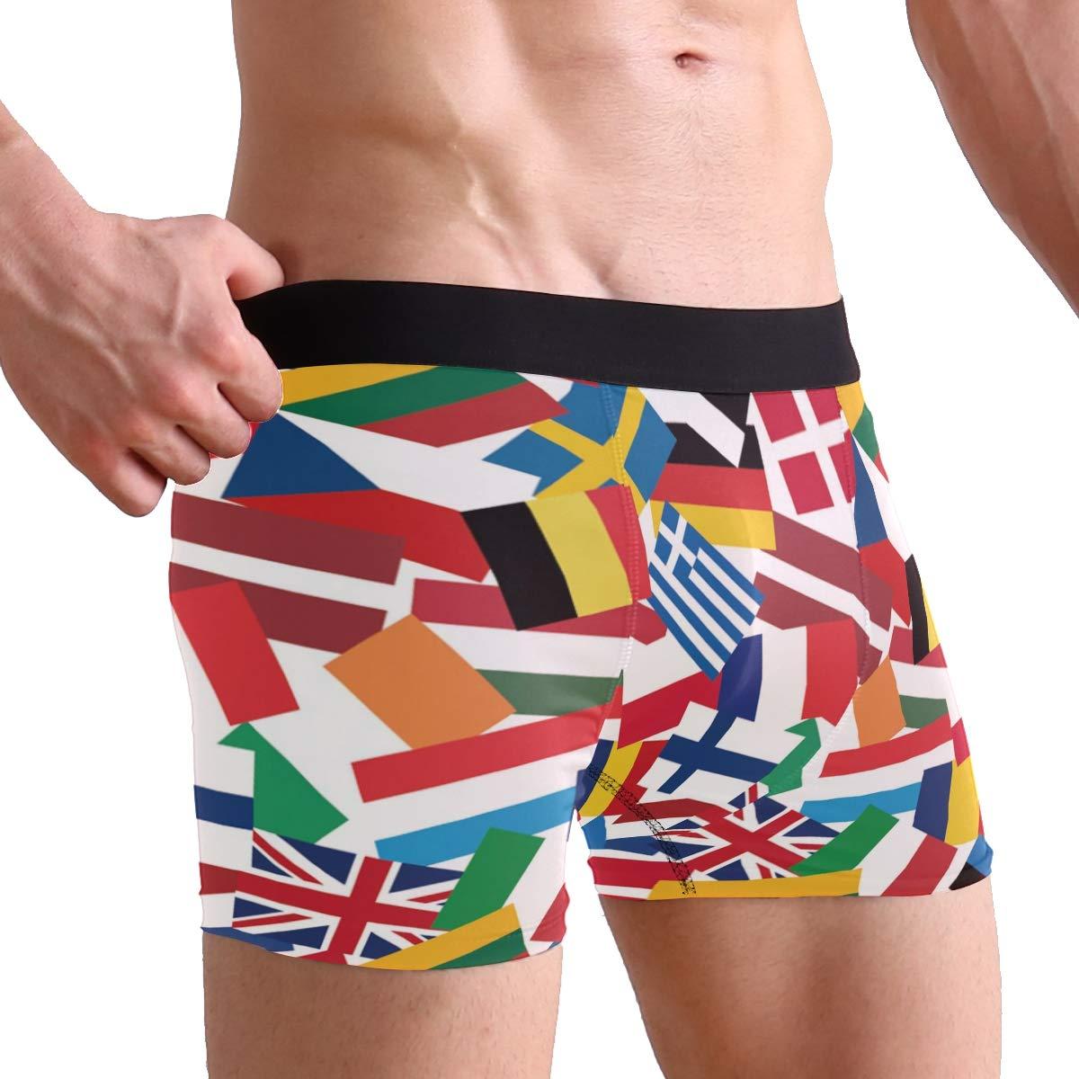 Anyangquji Flags of European Countries Boxer Briefs Mens Underwear