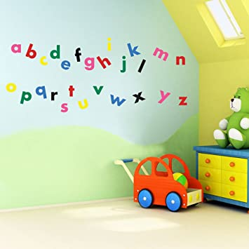 Vinyl Concept Childrens Wall Stickers Nursery Letters - Vinyl wall decals removable   how to remove