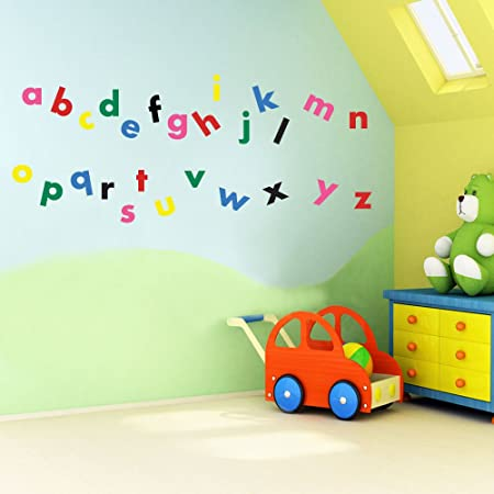 Vinyl Concept   Childrenu0027s Wall Stickers, Nursery Letters, Alphabet, Wall ,  Kids Removable