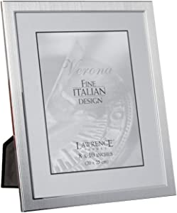 Lawrence Frames Brushed 8 by 10 Metal Picture Frame