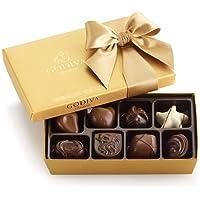Godiva Chocolatier Assorted Chocolate Gold Ballotin Gift Box, Great for Gifting, Belgian Chocolate, 8 Count