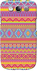 DailyObjects Aztec Pattern Pink Case For Samsung Galaxy S3 (Back Cover) Multicolored