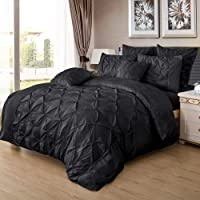 Diamond Pinch Pleat Duvet/Doona/Quilt Cover Set - AU Size Bed Brand New