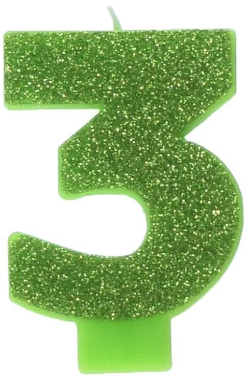 Amazon.com: Kiwi # 3 Cumpleaños Glitter 3.25