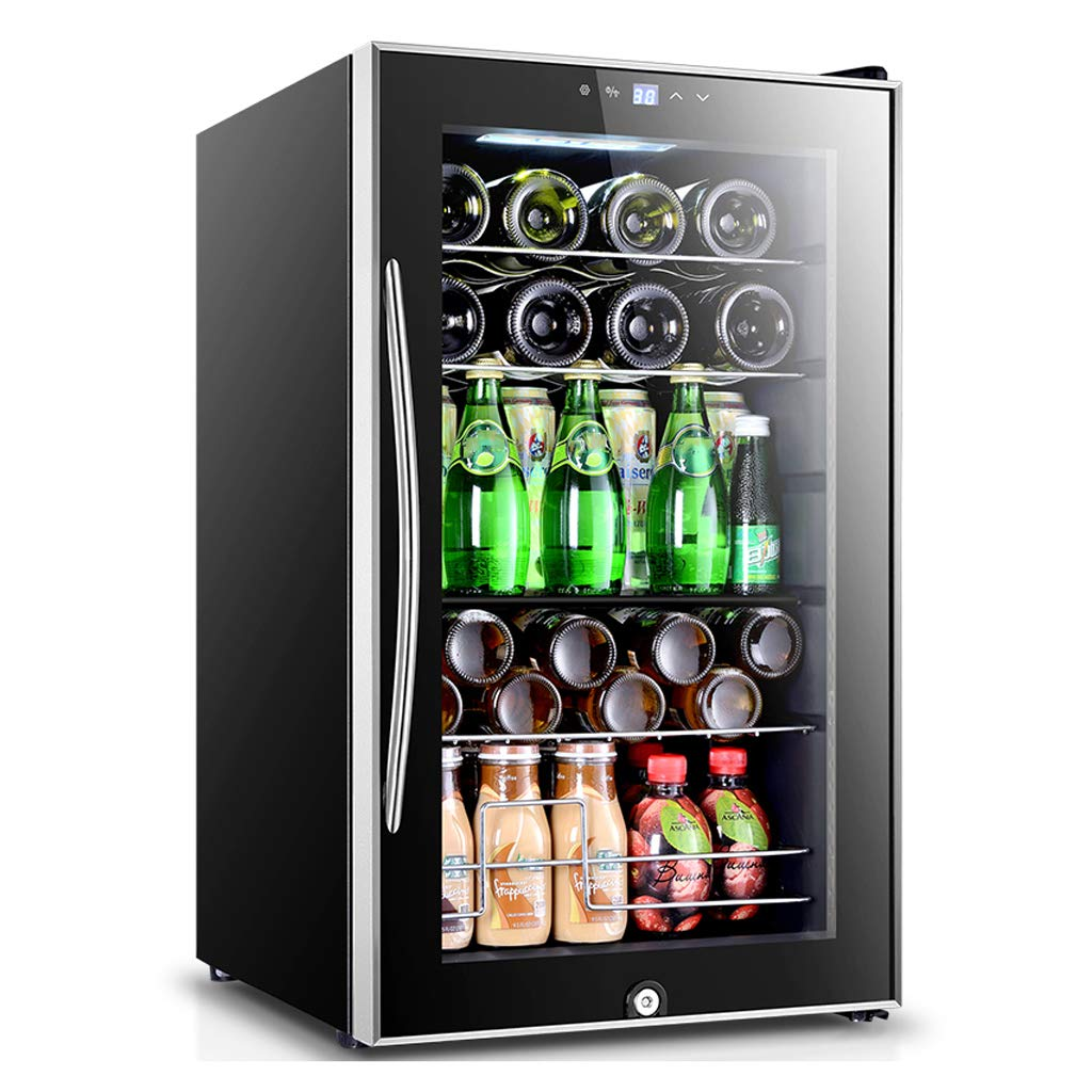 Lxn 70L Compressor Wine Cooler - Red and White Wine Chiller - Countertop Wine Cellar - Freestanding Refrigerator with LCD Display Digital Touch Controls