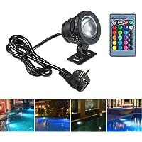 Lilideni AC85-265V 10W RGB LED Lámpara Sumergible