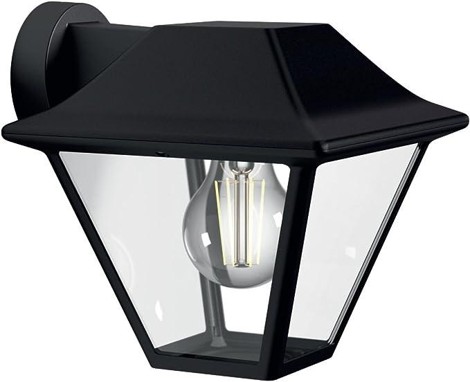 Philips myGarden Aplique - Lámpara de pared de 60 W, aluminio, IP44, para jardín y patio, casqullio E27, color negro: Amazon.es: Iluminación