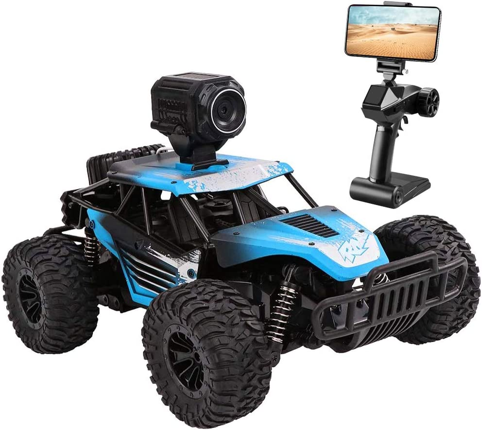 Amazon Com Rc Car Dexop Newest 2 4ghz Off Road Remote Contorl Car With Hd Camera Dual Control Mode 20km H High Speed Remote Control Vehicle Rc Car Toy For Children Adult Blue Toys