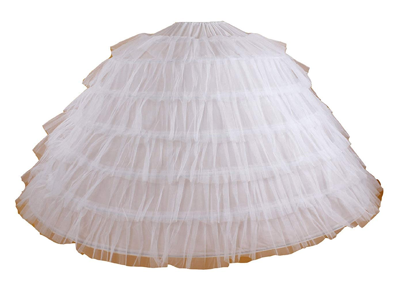 64efbc82ef997 White Super Big 7-hoop Wedding Bridal Prom Petticoat Underskirt Crinoline
