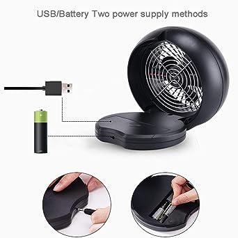 JiaMeng Mini Ventilador Silencioso Pequeño y Potente Ventilador portátil del Mini Ventilador de Escritorio de la Tabla del USB para la Escuela del hogar de ...