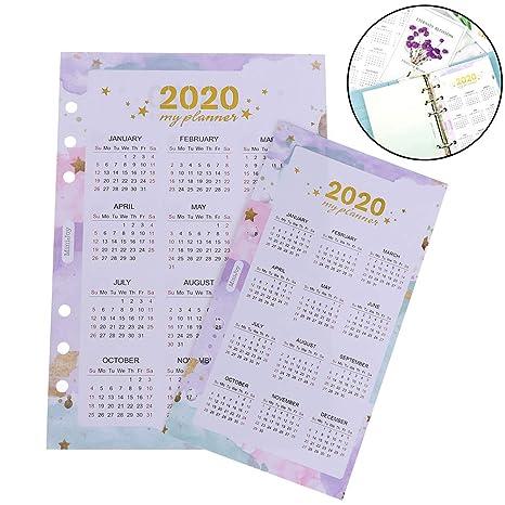 Amazon.com: TUANTUAN 2 Pack 2020 Calendar Card Paper ...