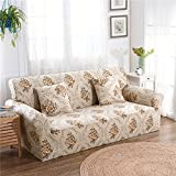 RUGAI-UE Sofa Slipcover sofa cover tight fitted elastic gasket cover three upholstered sofa full four living room,Two seater sofa long 145-185cm,Like first sight