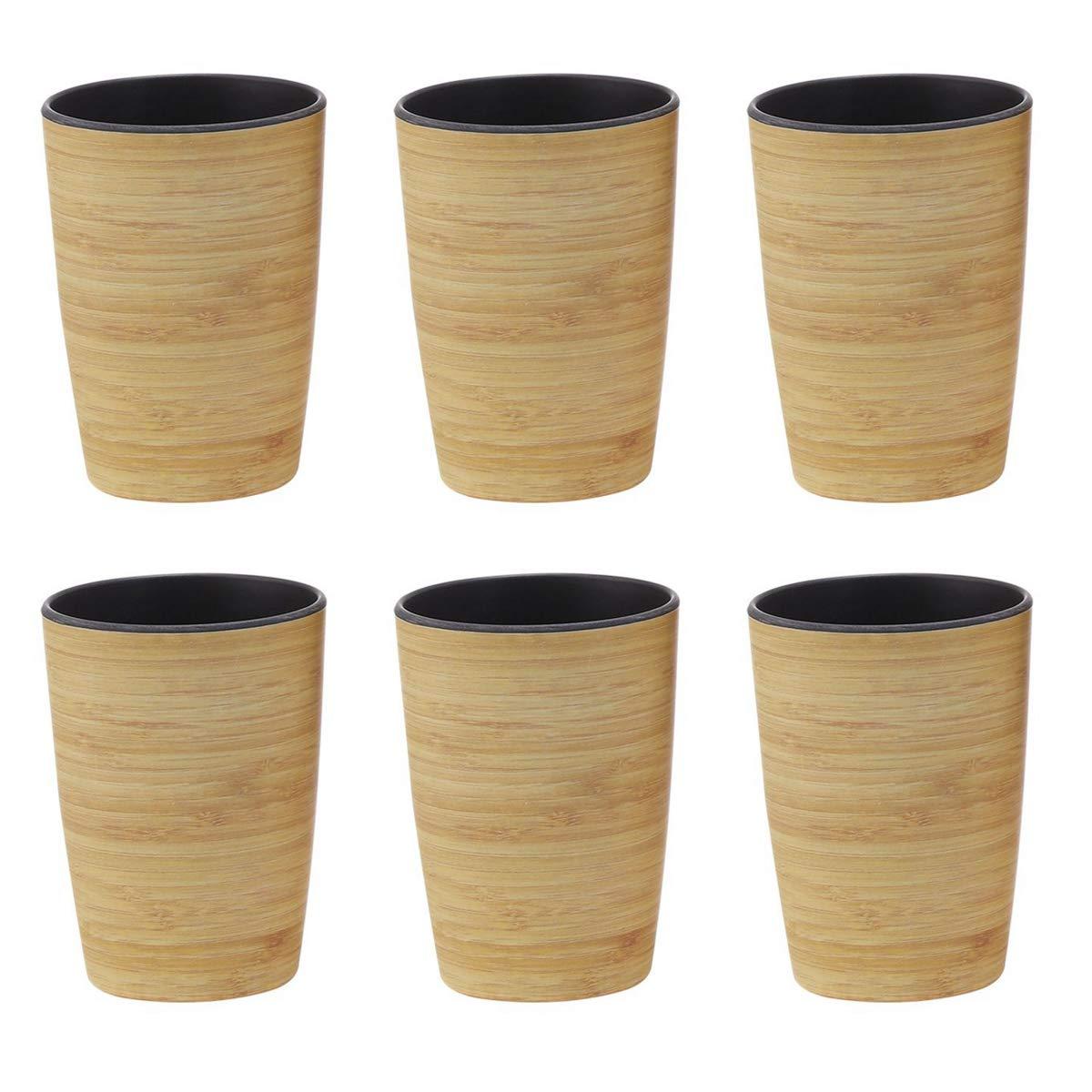 Conjunto de 6 Vaso De Bambú