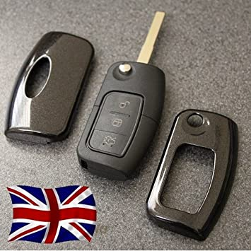 Black Key Cover For Ford Remote Flip Key Fob Case Protector   Button Nfrd Fiesta