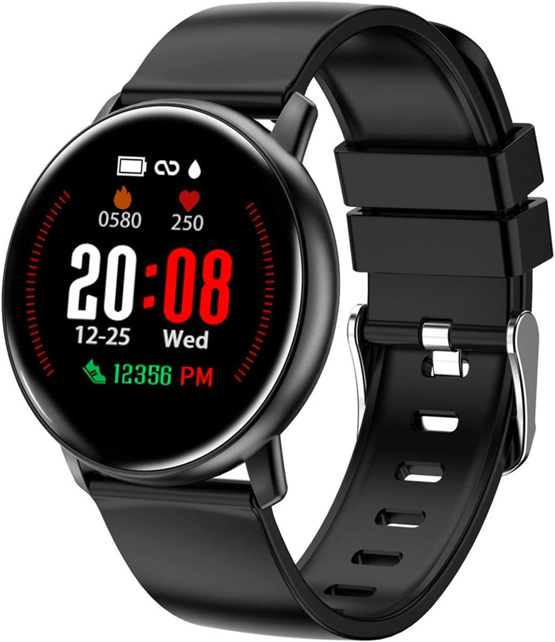 Smart Watch for Android Phones and iPhone Compatible, Fitness Tracker for Men and Women with 10 Workout Modes, Track Your All-Day Steps, Calories Burned, IP68 Waterproof