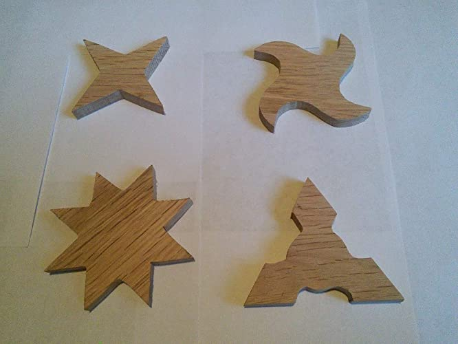 Amazon.com: Wooden Ninja Star, 4 pieces.: Handmade