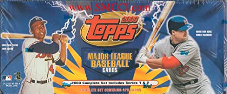 2000 Topps Baseball Factory Sealed Set Which Includes All Of The Basic 478 Cards From Series 1 And 2 Loaded With Your Favorite Stars Including