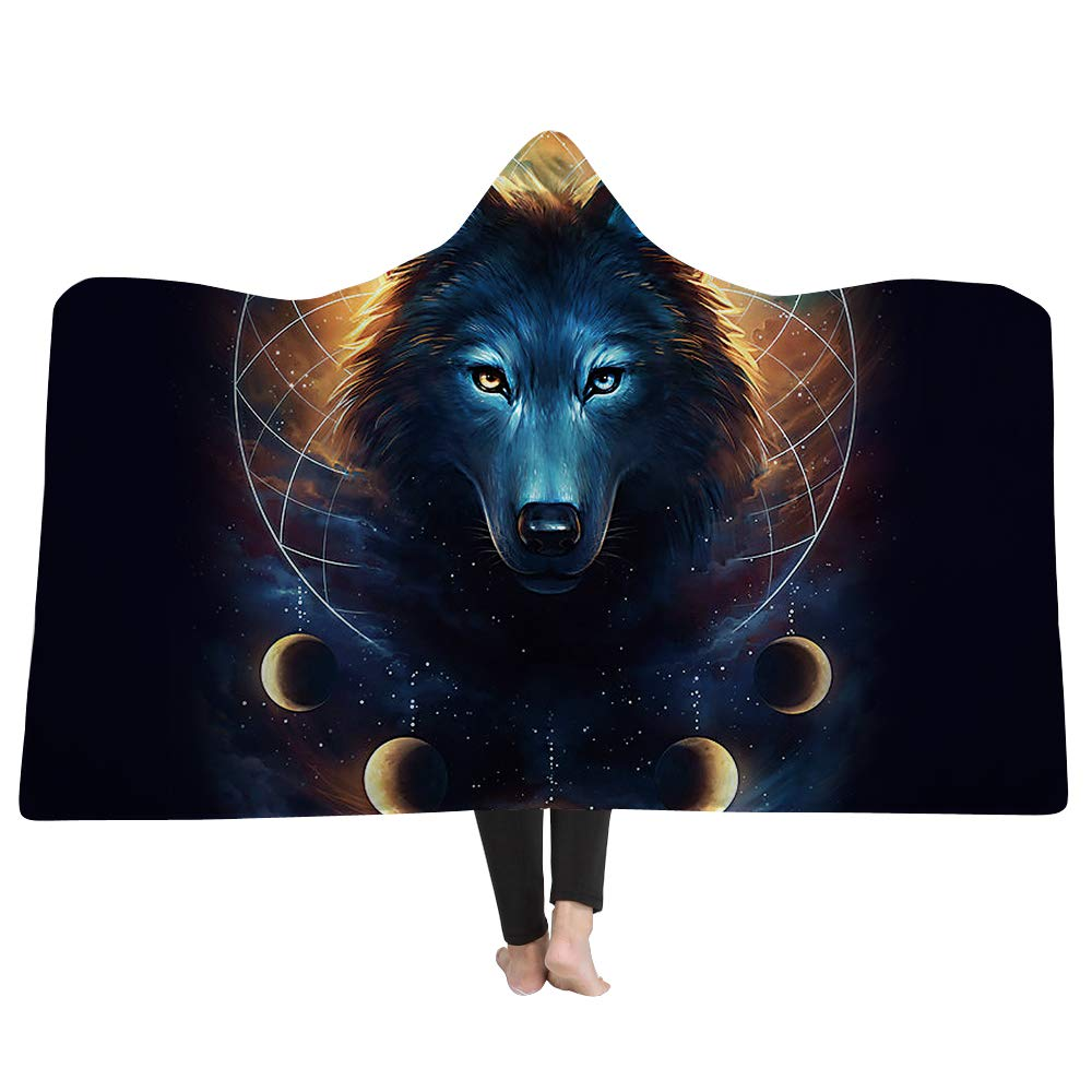 Super Soft Throw Blanket Custom Design Cozy Fleece Blanket Perfect for Couch Sofa or Bed Beautiful 3D Wolf Printed Cusphorn CPH896MO1S
