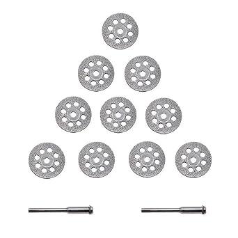 APlus Diamante Mini Trennscheibe Set Diamante (Juego de Cuchillas Perforadas 22 mm con 2 Arbors