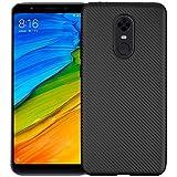 Xiaomi Redmi 5 Plus TPU Silicone Fiber Case Back Cover Black By Muzz