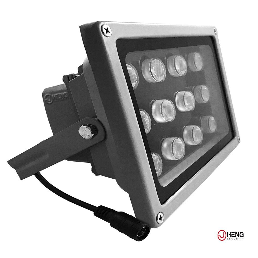 JC Infrared Illuminator 12-Led 90°Wide Angle High-Power IR Illuminator for 850nm IP Camera CCTV Analogue Security Surveillance Camera