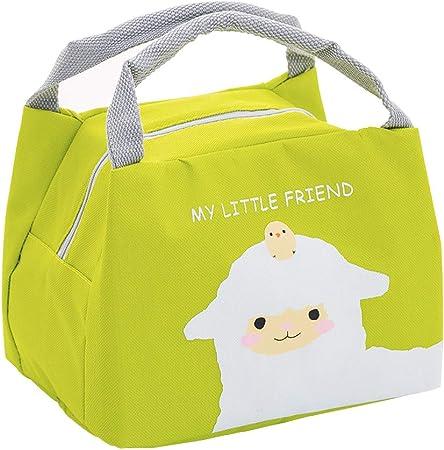 Mignon Imperméable Toile Isolé Thermal Cooler Lunch Box Carry fourre-tout sac de rangement