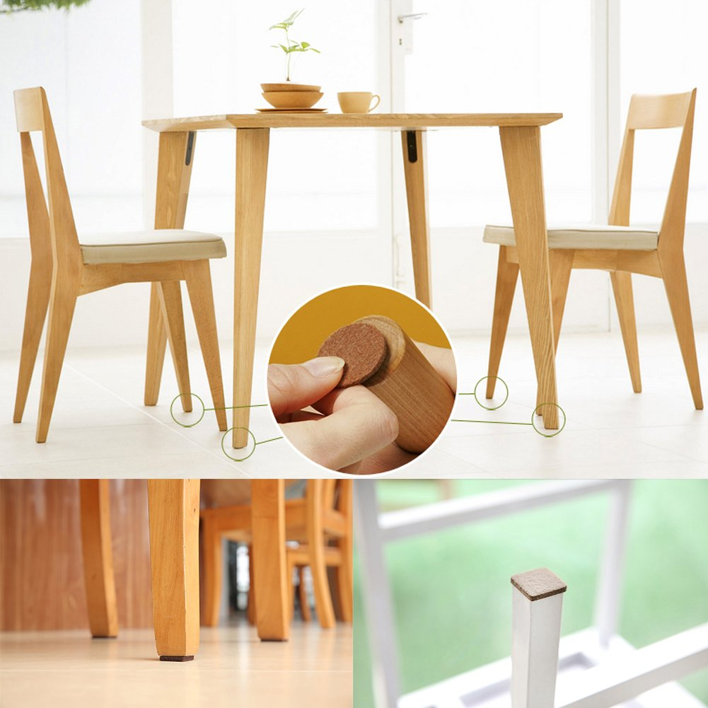 Beige MATDOM Premium Self-Stick Felt Furniture Pads Brown 246 Pieces for Hard Wood Floor and Carpet All-Sizes Protect Floors and Doors from Stretch and Impact.