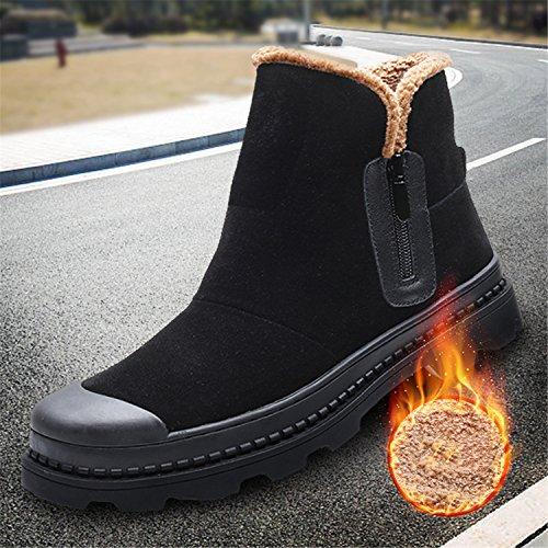 Rainstar Botas De Invierno Con Forro De Algodón Cálido Para Hombre Zapato De Invierno Bota De Nieve De Gamuza Negro
