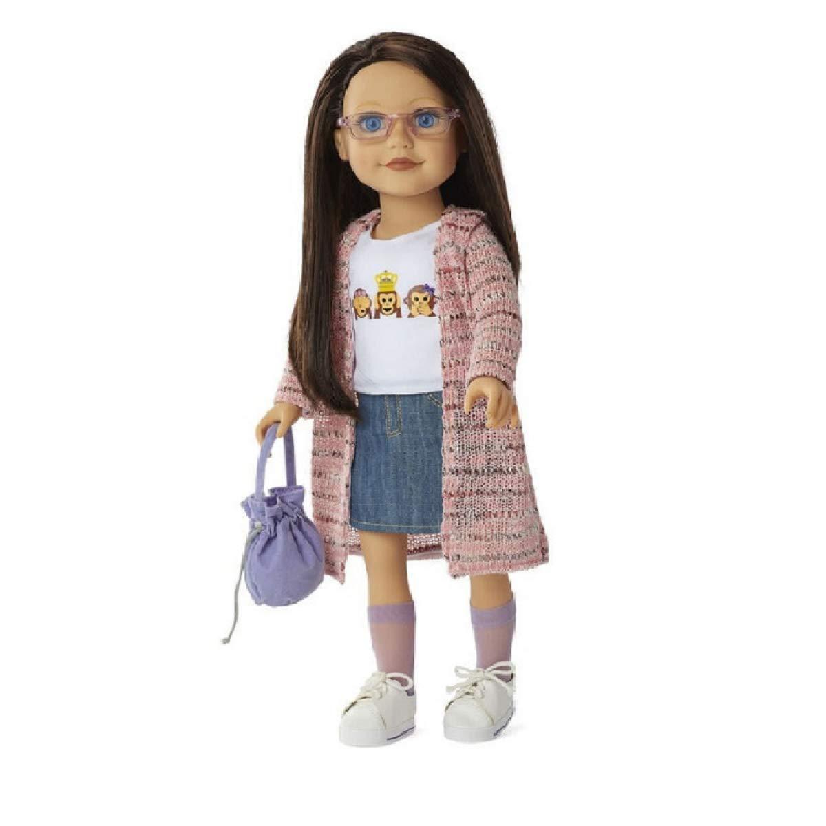 Journey Girls Dana 18 Doll with Denim Skirt and Pink Cardigan
