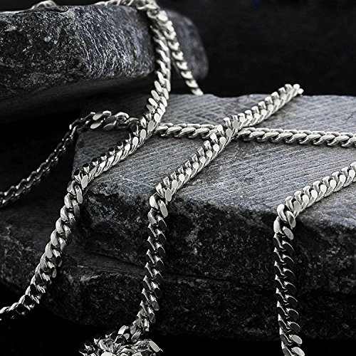 14k White Gold 2.5mm Solid Miami Cuban Curb Link Thick Necklace Chain 16'' - 30'' (22) by In Style Designz (Image #3)